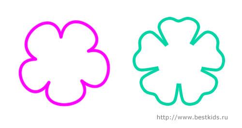Простые цветы, схема для